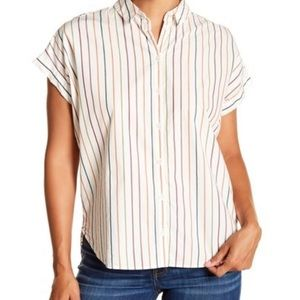 Madewell Central Sadie Multi-Stripe Shirt, NWT XS